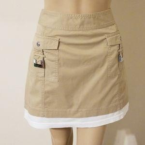 Micheal Kors Petite Khaki Mini Skirt
